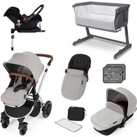 Ickle Bubba Stomp V3 Essential Travel and Nursery Bundle - Silver Chassis / Silver