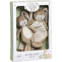 Guess How Much I Love You Little Nutbrown Hare Rattle and Comfort Blanket Gift Set