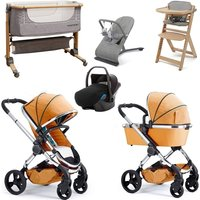 iCandy Peach Travel System and Premium Nursery Bundle 3 - Satin/Dove Grey