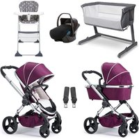 iCandy Peach Travel System and Essential Nursery Bundle 2 - Chrome/Damson