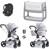 iCandy Peach Combo Travel System and Bedside Crib - Dove Grey - With Snuzpod3