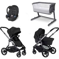 iCandy Orange Travel System and Bedside Crib - Oynx - With Cozi Sleeper