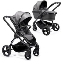 iCandy Peach 2020 Travel System and Premium Nursery Bundle - Chrome - Light Grey Check