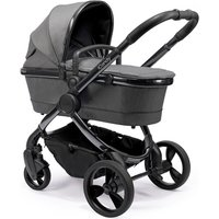 iCandy Peach 2020 Travel System and Premium Nursery Bundle - Phantom - Dark Grey Twill