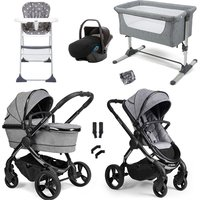 iCandy Peach 2020 Travel System and Premium Nursery Bundle - Phantom - Light Grey Check