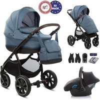 Noordi Sole Premium Travel and Nursery Bundle - Denim