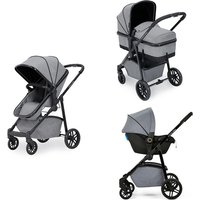 Ickle Bubba Moon 3-in-1 Travel System - Black/Tan