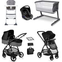 Be Cool Slide-3 Essential Travel System and Nursery Bundle - Be Black