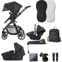 Silver Cross Pioneer Eclipse Special Edition Travel System Bundle - Black + Isofix Base