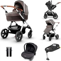 Silver Cross Wave Travel System and Isofix Bundle - Sable