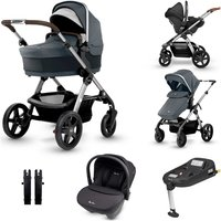 Silver Cross Wave Travel System and Isofix Bundle - Slate
