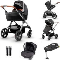Silver Cross Wave Travel System and Isofix Bundle - Granite