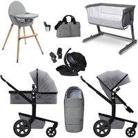 Joolz Day3 Travel System and Ultimate Nursery Bundle - Superior Grey / Black Car Seat
