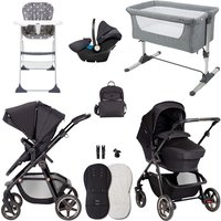 Silver Cross Pioneer Eclipse Essential Travel and Nursery Bundle - Black