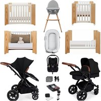 Ickle Bubba Stomp V3 Luxury Travel and Nursery Bundle - Black Chassis / Silver