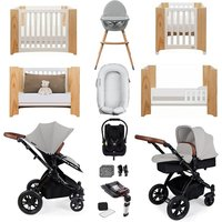 Ickle Bubba Stomp V3 Luxury Travel and Nursery Bundle - Silver Chassis / Silver