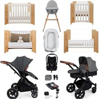 Ickle Bubba Stomp V3 Luxury Travel and Nursery Bundle - Black Chassis / Graphite
