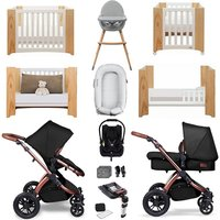 Ickle Bubba Stomp V4 SE Luxury Travel and Nursery Bundle - Midnight Bronze