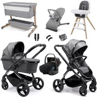 iCandy Peach 2020 Luxury Travel and Nursery Bundle - Phantom - Light Grey Check
