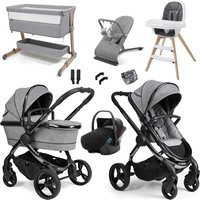 iCandy Peach 2020 Luxury Travel and Nursery Bundle - Phantom - Dark Grey Twill