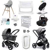 iCandy Peach 2020 Ultimate Travel and Nursery Bundle - Phantom - Light Grey Check