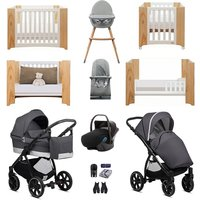 Noordi Sole Go Luxury Travel and Nursery Bundle - Warm Grey
