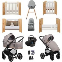 Noordi Sole Go Luxury Travel and Nursery Bundle - Dark Brown