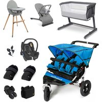 Out n About Nipper Double Essential Travel and Nursery Bundle - Lagoon Blue