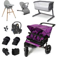 Out n About Nipper Double Essential Travel and Nursery Bundle - Purple Punch