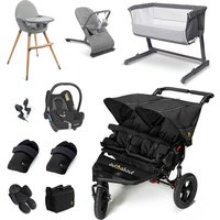 Out n About Nipper Double Essential Travel and Nursery Bundle - Raven Black