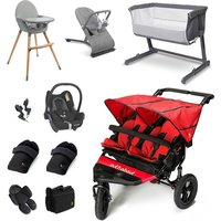 Out n About Nipper Double Essential Travel and Nursery Bundle - Carnival Red