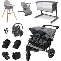 Out n About Nipper Double Essential Travel and Nursery Bundle - Steel Grey