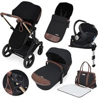 Ickle Bubba Aston Rose i-size Travel System with Isofix Base - Black