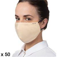 Noordi Antimicrobial Face Masks - Adult 50 Pack - Cream