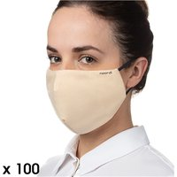 Noordi Antimicrobial Face Masks - Adult 100 Pack - Raspberry