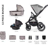 Venicci Tinum Premium Travel System and Nursery Bundle - Light Grey