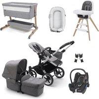 Bugaboo Donkey3 Mono Premium Travel and Nursery Bundle - Aluminium + Grey Melange
