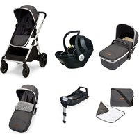 Ickle Bubba Eclipse Travel System with Mercury iSize car seat and ISOFIX - Graphite Grey (Black Handle)