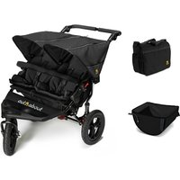 Out n About Nipper Double V4 Raven Black + Accessories - Basket and Bag