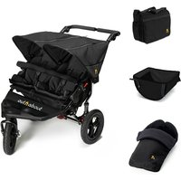 Out n About Nipper Double V4 Raven Black + Accessories - Basket, Bag and Footmuff