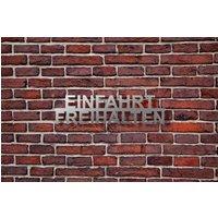 Schild aus Edelstahl mit dem Hinweis EINFAHRT FREIHALTEN