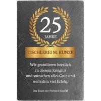 Jubiläumsgeschenk Schieferschild mit Jubiläumsspruch 200 x 300 mm