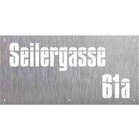 Hausnummer aus Edelstahl -Design Rectangle Impossible