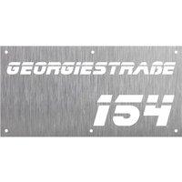 Hausnummer aus Edelstahl -Design Rectangle Blade