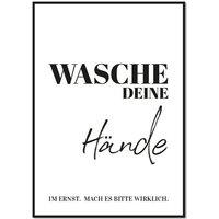 Wasche deine Hände - Hinweisschild A5
