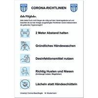 Hinweisschild zur Hygieneregelung aus Dibond im A2 Format