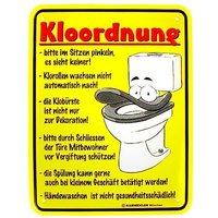 Funschild -Kloordnung-