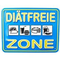 Funschild -Diätfreie Zone-