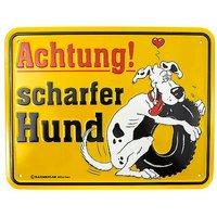 Funschild -ACHTUNG! Scharfer Hund-