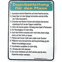 Funschild - Duschanleitung für den Mann -